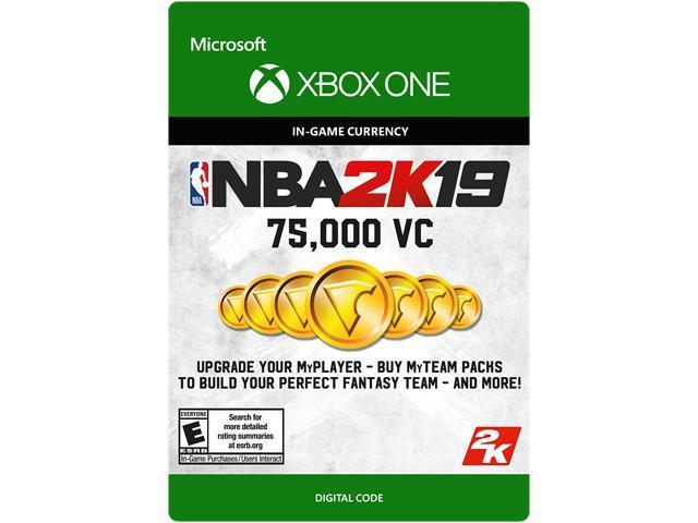 NBA 2K19: 75,000 VC Xbox One [Digital Code] - Newegg com