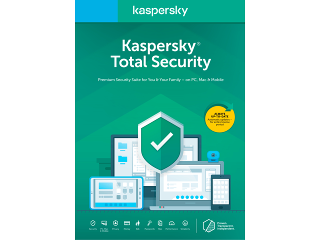 Kaspersky Total Security 2021 1 Year / 5 Devices