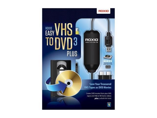 roxio vhs dvd  Roxio Easy VHS to DVD 3.0 Plus -