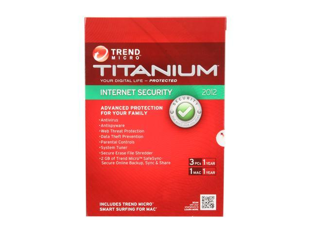 TREND MICRO Titanium Internet Security - 3 PCs Software - Newegg com