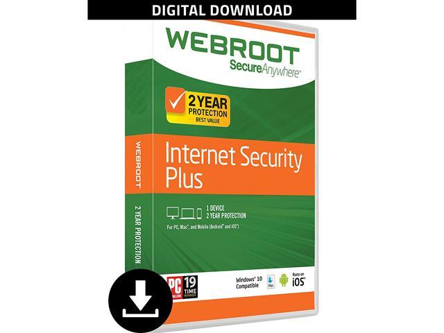 Webroot Internet Security Plus + Antivirus 2017 - 3 Devices 2 Year  Subscription - Download - Newegg com