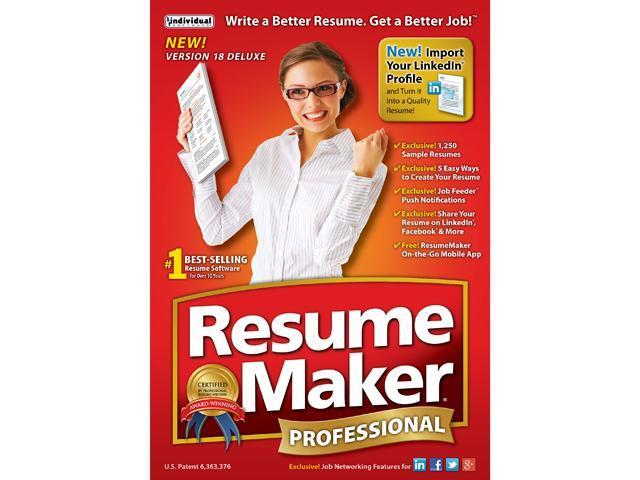 Individual Software Resumemaker Professional Deluxe 18 Newegg Com