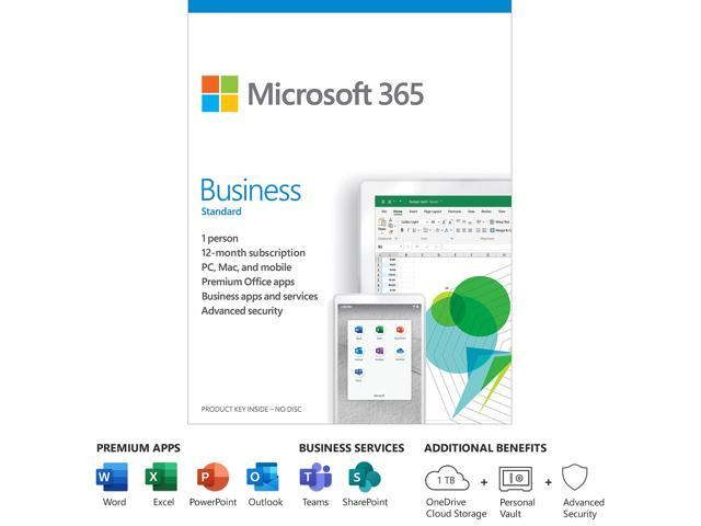 Microsoft 365 Business Standard 12 Month Subscription 1 Person Premium Office Apps 1tb Onedrive Cloud Storage Pc Mac Keycard Newegg Com