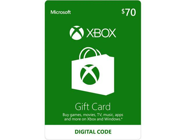 Xbox Gift Card $70 US (Email Delivery) - Newegg com