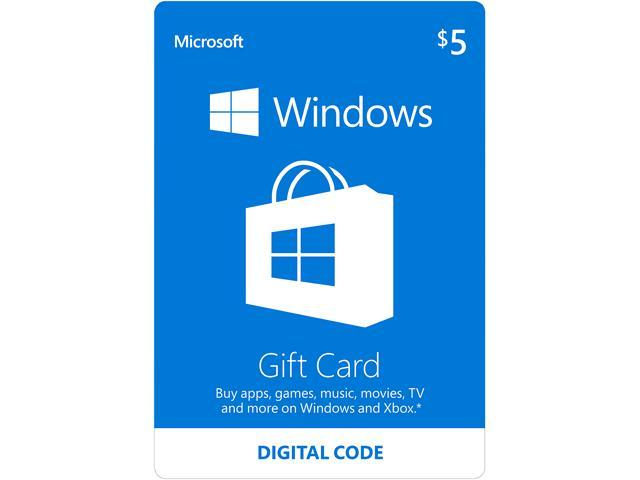 Microsoft Windows Store Gift Card - $5 (Email Delivery)