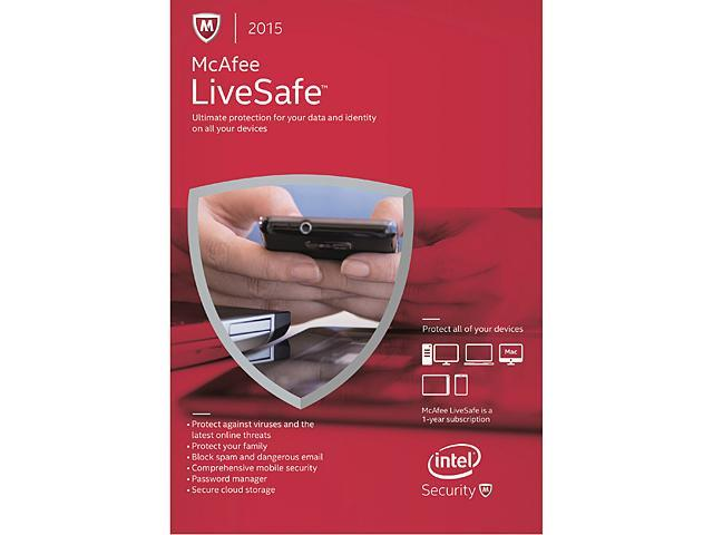 Mcafee Livesafe Device Download Attach Only Newegg Com