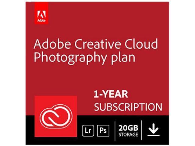 Adobe Creative Cloud Photography plan with 20GB storage - 1 Year  Subscription (PC/MAC Digital) - Newegg com