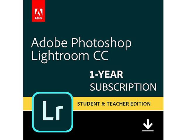 Adobe Photoshop Lightroom CC Plan Student and Teacher (PC