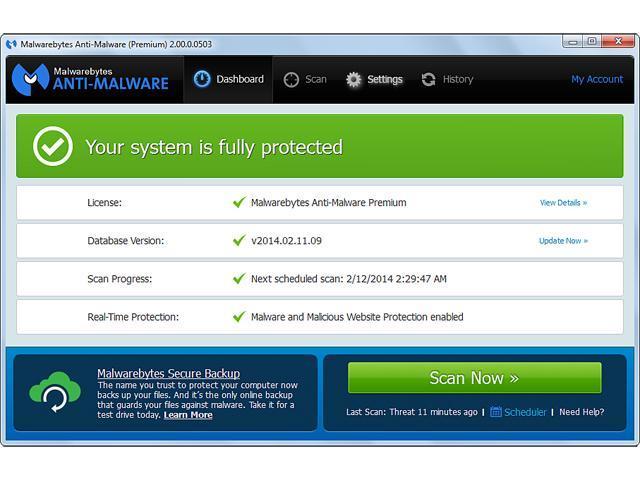 Malwarebytes Anti-Malware Pro Lifetime 1 PC - Newegg com