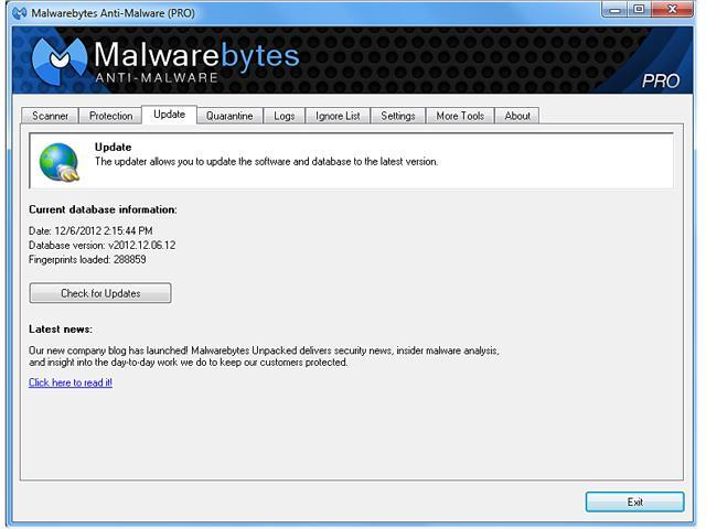 Malwarebytes Anti-Malware Pro Lifetime - 1 PC Antivirus