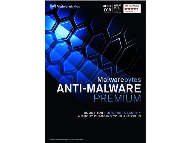 Malwarebytes Anti Malware Premium 3 Pcs 1 Year Newegg