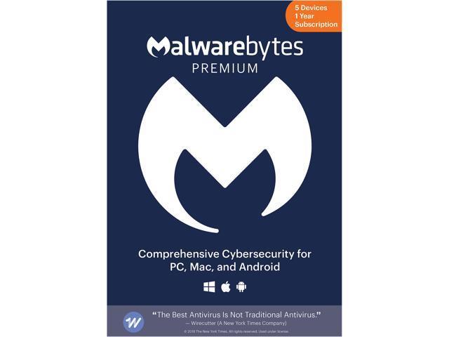 Malwarebytes Premium - 5 Devices / 1 Year [Key Card]