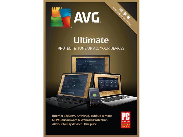 AVG Ultimate 2019 Unlimited Devices 1 Year - Download - Newegg com
