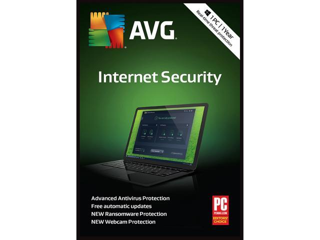 AVG Internet Security 2019, 1 PC 1 Year - Download - Newegg com