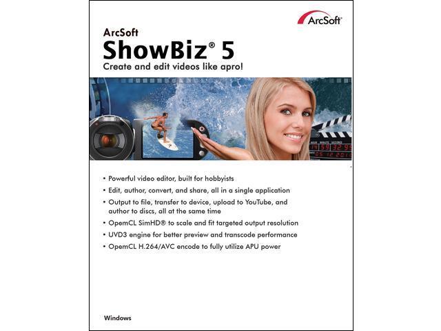 arcsoft showbiz 5
