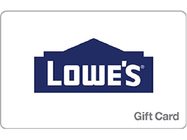 Lowe's $100 Gift Card - Digital Delivery