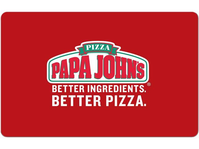 Papa John's $25 Gift Card (Email Delivery) - Newegg com