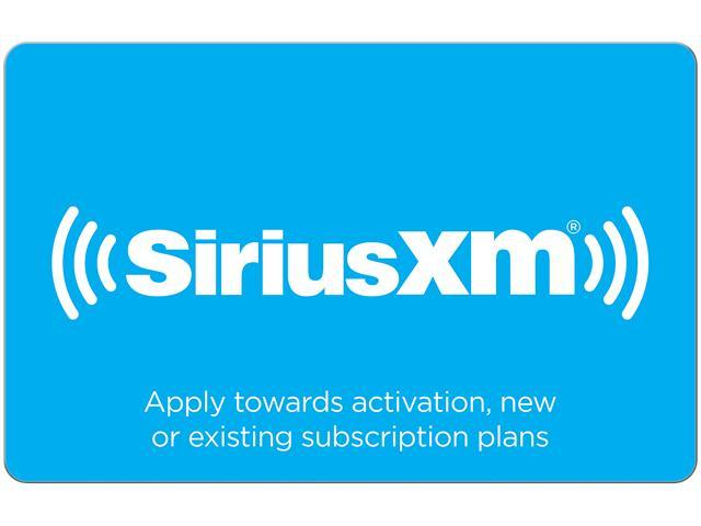 SiriusXM $50 00 Gift Card (Email Delivery) - Newegg com