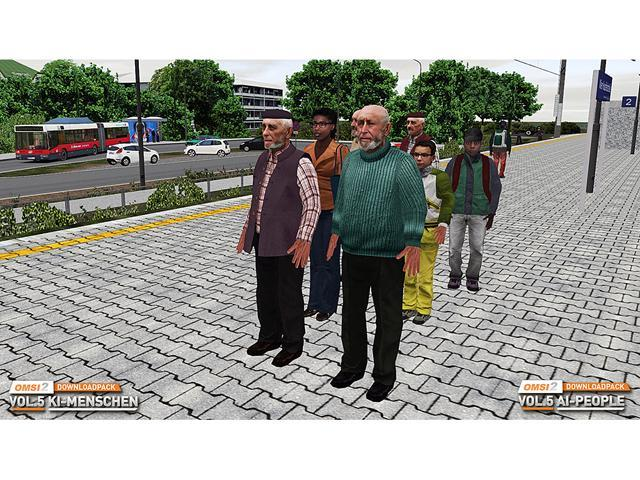 OMSI 2 Add-on Downloadpack Vol  5 - KI-Menschen [Online Game Code] -  Newegg com