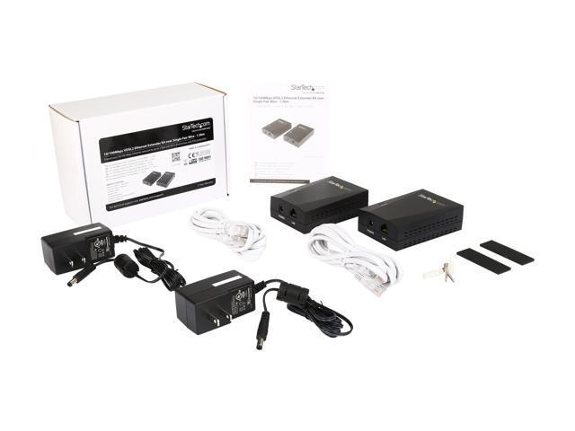 10//100mbps Startech.com Vdsl2 Ethernet Extender Kit Over Single-pair Wire