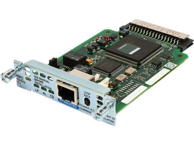 CISCO HWIC-1DSU-T1= 1-Port T1/Fractional T1 DSU/CSU WAN Interface Card -  Newegg com