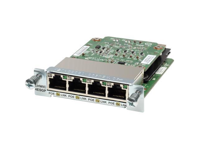 Cisco EHWIC-4ESG Enhanced High-Speed WAN Interface Card - 4 x  10/100/1000Base-T WAN100 Mbit/s - Newegg com