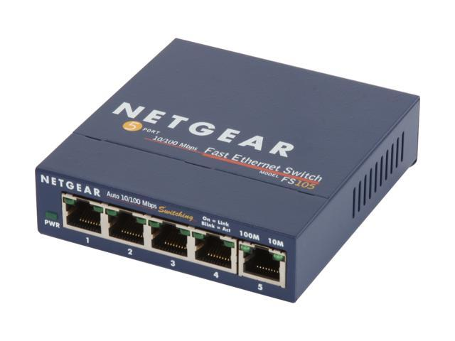NETGEAR 5-Port Gigabit Ethernet Unmanaged Switch Sturdy Metal Desktop