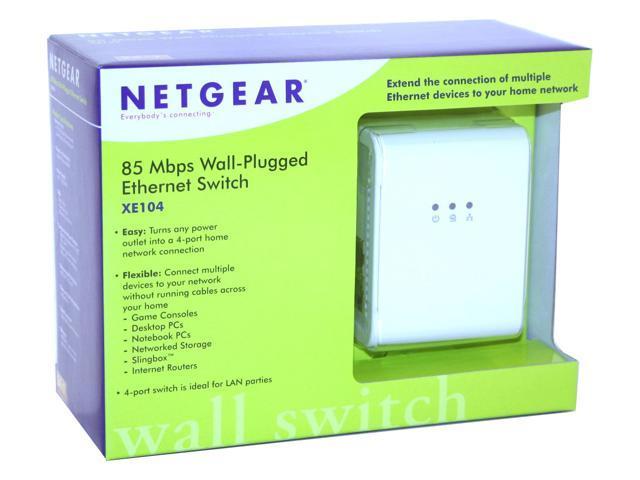 Netgear xe104 85 mbps wall-plugged ethernet 4-port switch newegg. Com.
