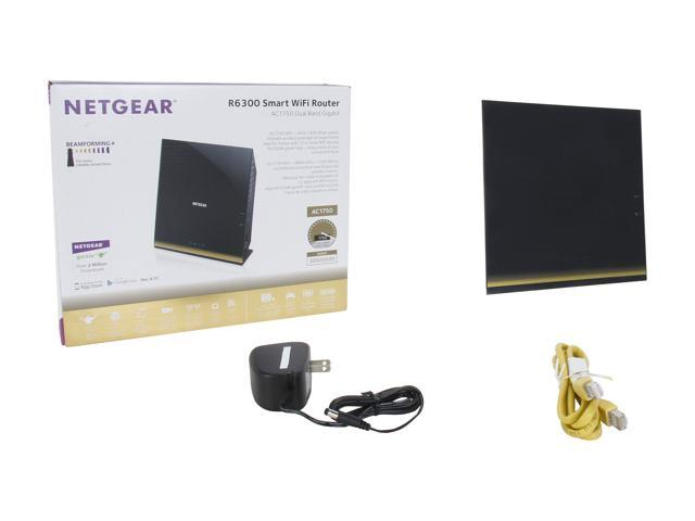 Used - Like New: NETGEAR R6300-100PAS AC1750 Simultaneous Dual Band Gigabit  Smart Wi-Fi Router - Newegg com