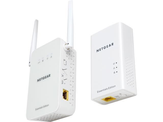NETGEAR PLW1010 AV2 1000 Mbps Powerline with N300 Wireless Range Extender Kit, Powerline up to 1000 Mbps + Wireless speed up to 300 Mbps