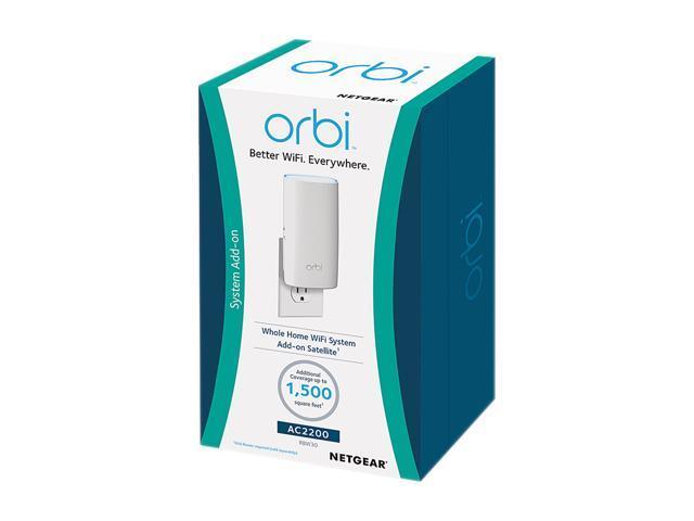 Orbi Home Wi-Fi System  Add up to 1,500 sq ft  AC2200 Tri-Band Wi-Fi  (RBW30) By NETGEAR [Add-on Wall Plug Satellite] - Newegg com