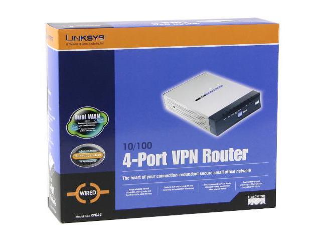 Cisco Small Business RV042 10/100Mbps VPN Router - Newegg com