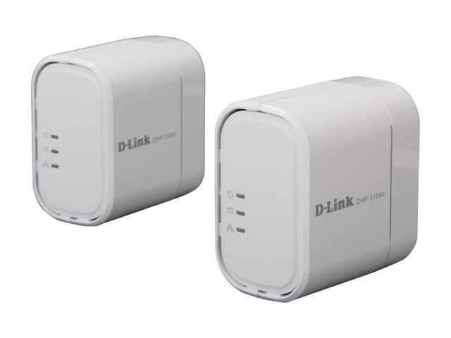 D-Link DHP-310AV 200 Mbps PowerLine AV Mini Adapter