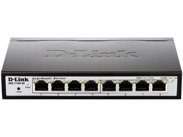 D-Link 8-Port EasySmart Gigabit Ethernet Switch - Lifetime Warranty  (DGS-1100-08) - Newegg com