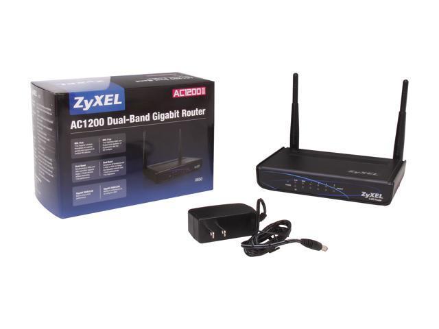 ZyXEL X650 AC1200 Dual-Band Gigabit Router - Newegg com