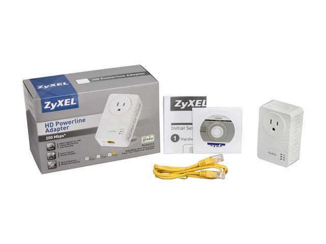 New XyXEL PLA4111 200 Mbps Mini Powerline Pass-Thru Ethernet Adapter