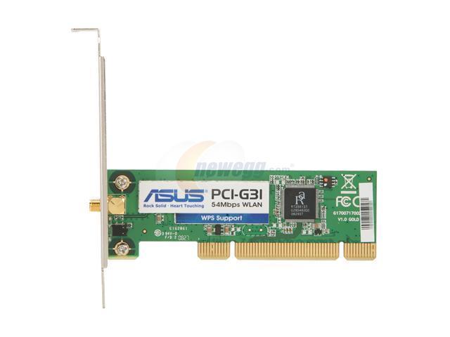 ASUS PCI-G31 54MBPS WLAN WINDOWS 7 64 DRIVER