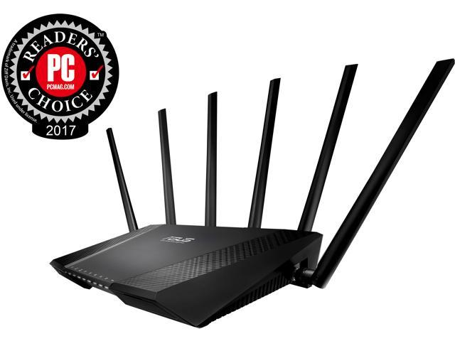 ASUS AC3200 Tri-Band Gigabit Wi-Fi Router, AiProtection Lifetime Security by Trend Micro, Adaptive QoS, Parental Control
