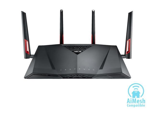 ASUS AC3100 Wi-Fi Dual-band Gigabit Wireless Router with 4x4 MU-MIMO, 8 x LAN Ports, AiProtection Network Security and WTFast Game Accelerator, AiMesh Whole Home Wi-Fi System Compatible (RT-AC88U)