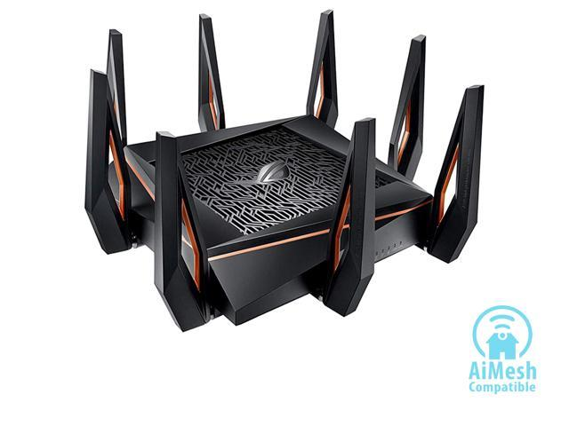 ASUS ROG Rapture GT-AX11000 AX11000 Tri-band 10 Gigabit WiFi Router, AiProtection Lifetime Security by Trend Micro, AiMesh compatible for Mesh Wi-Fi System, Next-Gen Wi-Fi 6, Wireless 802.11Ax
