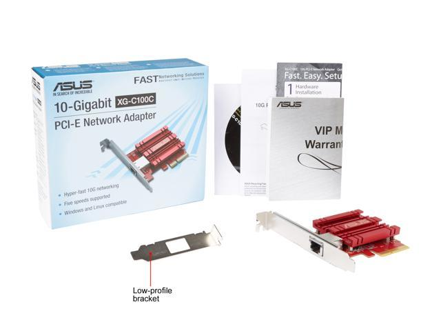 ASUS XG-C100C 10G Network Adapter Pci-E X4 Card with Single RJ-45 Port