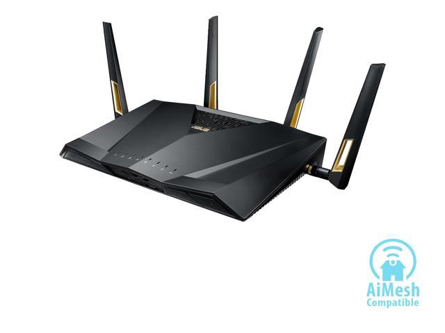 ASUS AX6000 Dual-band WiFi 6 Gaming Router, game acceleration, Mesh WiFi support, Lifetime Free Internet Security, Gamer Private Network, Mobile Game Boost, Streaming & Gaming
