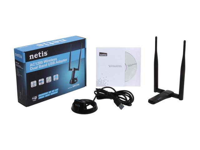 NETIS WF2190 AC1200 Wireless High Gain USB 3 0 Adapter with Dual 5