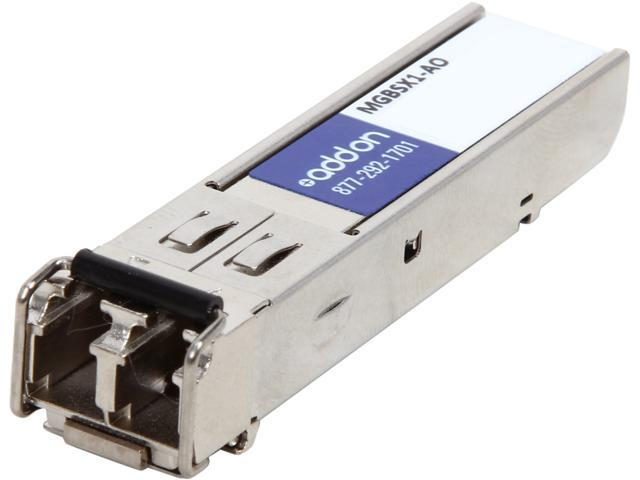 MMF, 850Nm, 550M, LC AddOn Sonicwall 01-SSC-9789 Compatible 1000Base-SX SFP Transceiver 01-SSC-9789-AO