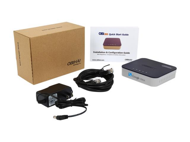 Google Voice VoIP Phone Adapter Fax Support 1 Port Home Phone Service OBi200 New