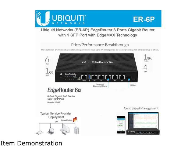 Ubiquiti Networks ER-6P EdgeRouter 6-Port with PoE - Newegg com