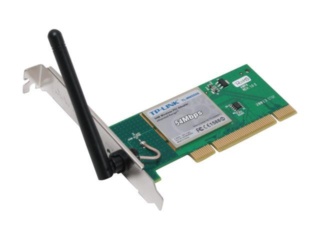 TP-LINK TL-WN550G eXtended Range Wireless Adapter IEEE 802 11b/g 32bit  PCI2 2 Up to 54Mbps Wireless Data Rates - Newegg com