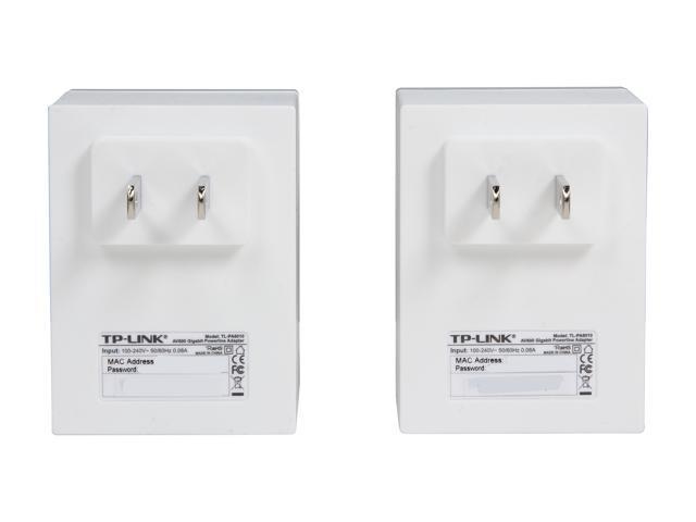 TP-LINK TL-PA6010KIT AV600 Powerline Adapter Starter Kit, Up to 600Mbps,  Gigabit Ports, Plug and Play, Power Saving - Newegg com