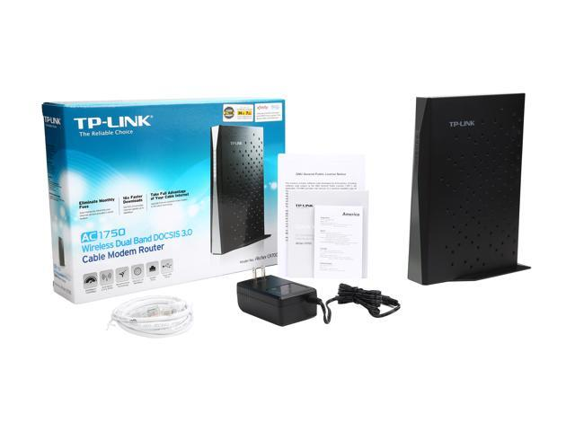 TP-Link AC1750 DOCSIS 3 0 (16x4) Wireless Wi-Fi Cable Modem