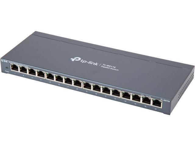 TP-LINK 16 Port Easy Smart Desktop Gigabit Ethernet Network Switch TL-SG116E